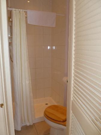 Glencree House: Single little en suite bathroon