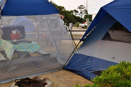 Rodanthe Watersports and Campground: our campsite