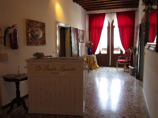 Ca Santo Spirito: reception / breakfast room