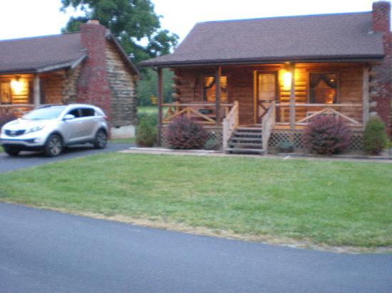 Smoke Hole Caverns & Log Cabin Resort: Our honeymoon cabin and car