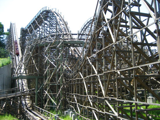 Yongin, South Korea: T Express wooden rollercoaster