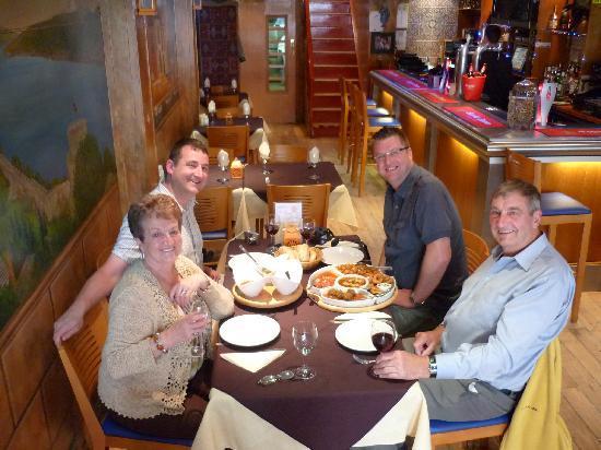 Bistro Bar Med: enjoying our meal