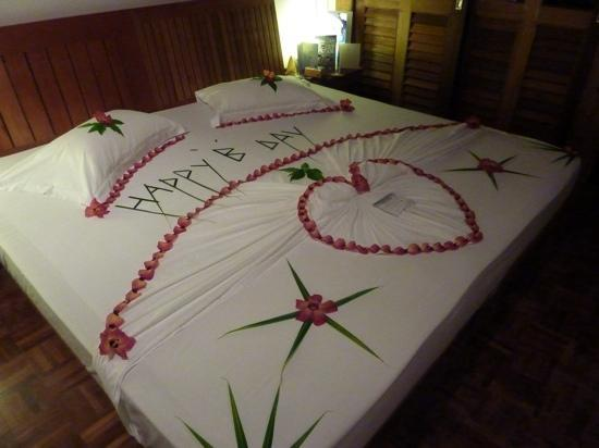 Birthday bed decoration Picture of Reethi Beach Resort Baa Atoll