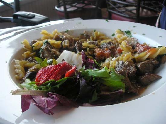 The Sea Grille @ Gurney's Inn: My friend's dinner, steak and pasta dish