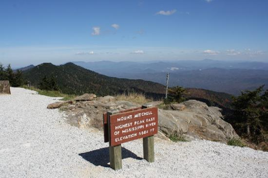Asheville, NC: View from Mt. Mitchell Overlook