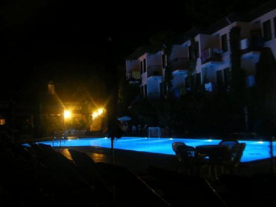 Hisar Holiday Club : Pool area at night