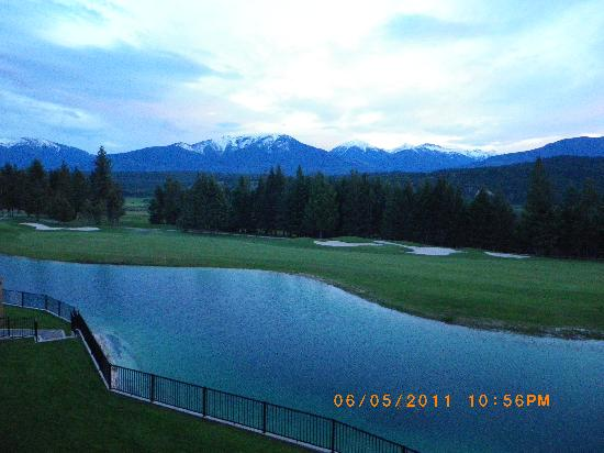Radium Hot Springs, Canada: View from our deck.