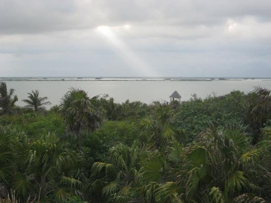 Sian Ka'an Biosphere Reserve: View of the lagoon at the education center