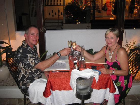 La Villa Restaurant: Jeff & Renee Dining in Paradise