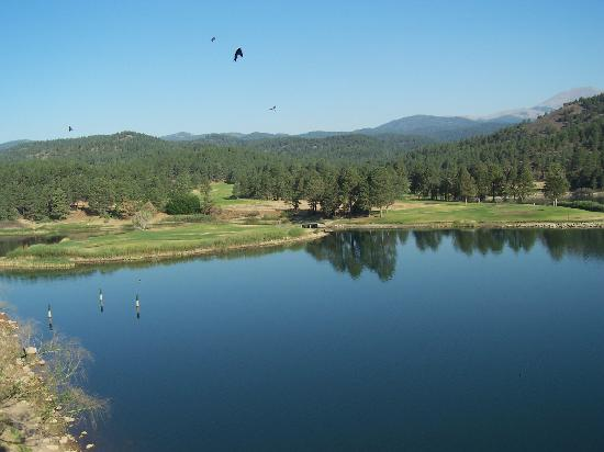 Mescalero, NM: Golf course from balcony!