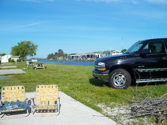 Treasure Beach RV Park and Campground: Water Front Site - Canal