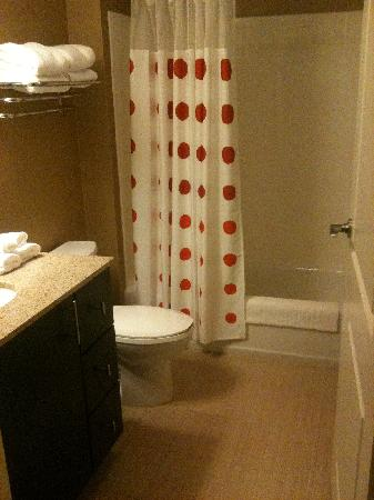 TownePlace Suites Charlotte Mooresville: Bathroom