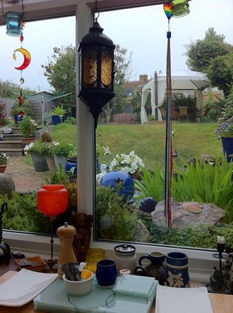 Bishopstone, UK: The view from the breakfast table.