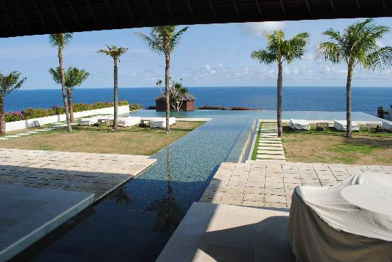 Sinaran Surga villas: view from verranda