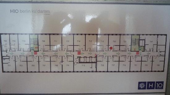 H10 Berlin Ku'damm : Floor plan of 7th etage