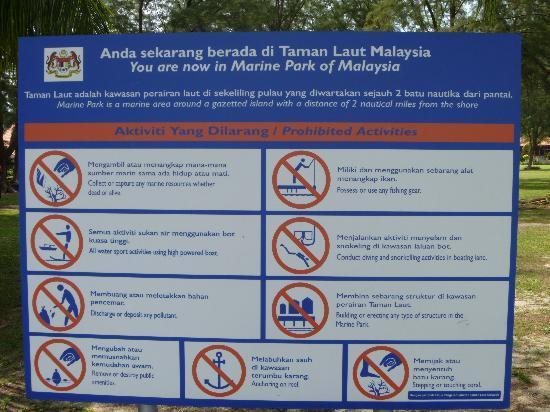 Sibu Island Resort: it is a marine park !!