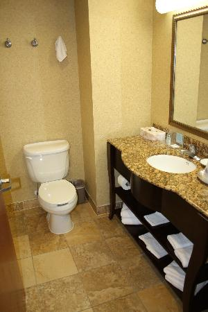 Hampton Inn & Suites of Ft. Pierce: Bathroom was nice and clean