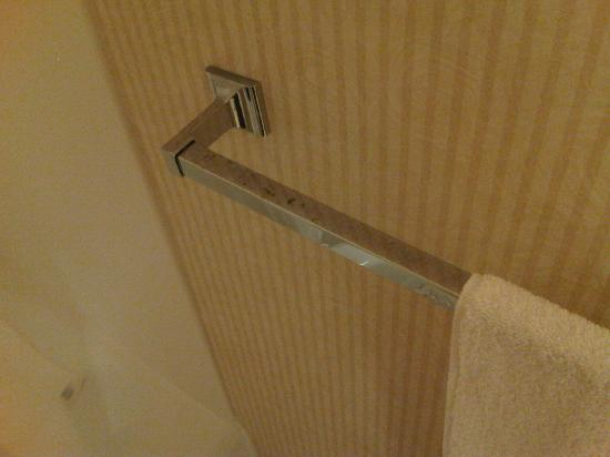 Marinwood Inn & Suites: rusty towel bar