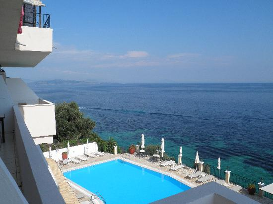 Oceanis Rooms Apartments: Blick vom Balkon
