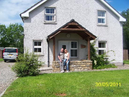 Fermanagh Lodges: Outside Blueberry Cottage 30/05/11