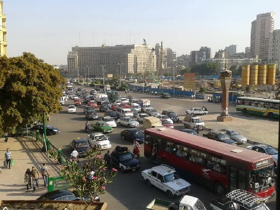 Museum View Hotel: view of Tahrir Square from the room balcony