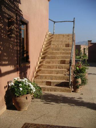 Ferme d'hote Akrich: Treppe zur Terrasse