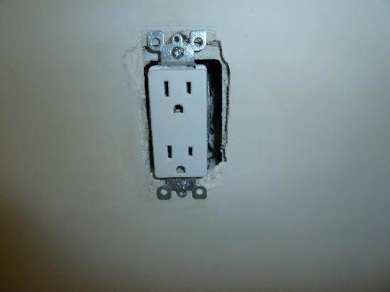 Grandview Inn: Outlets are just hanging out