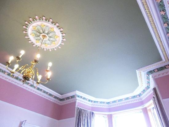 Straven Guest House: Breakfast room ceiling