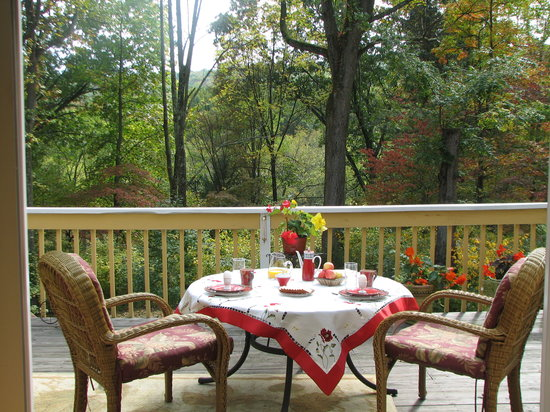 Cherry Valley Manor : Breakfast on the terrace