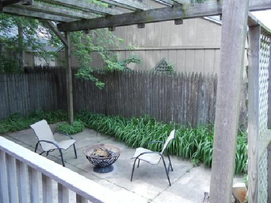 Landers House: Patio with FirePit