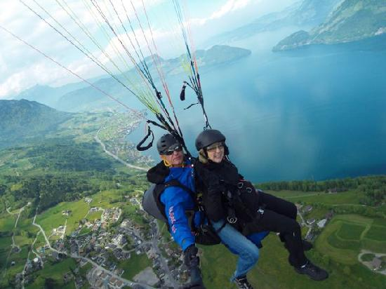 SkyGlide Paragliding Lake Lucerne : What a view