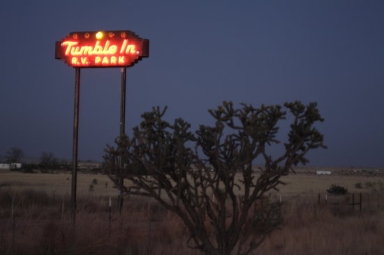 Tumble In Marfa RV Park: the sign