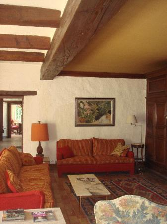 Domaine de Saint-Clement: Le salon avec cheminée