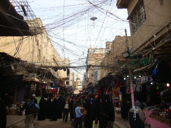 Iraq : Karbala, il bazar ed i cavi ...