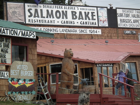 Denali Park Salmon Bake : Exterior of the Salmon Bake