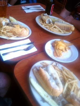 Rotten Ralph's: 3 different cheesesteaks