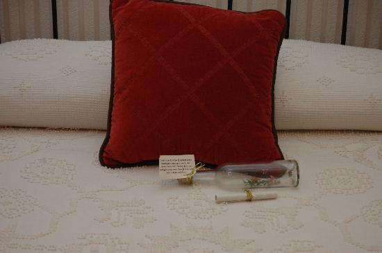 Wyatt House Country Inn: The message in the bottle by the pillow