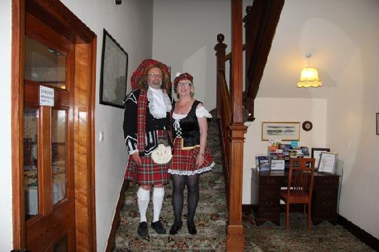 Caledonian Hotel : Maggie and I dressed for Gala dinner