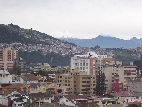 Swissotel Quito: View from my hotel window (7th floor)