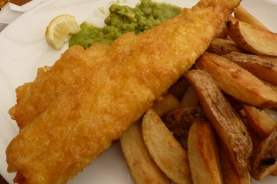 St. Bees, UK: Mushy peas are mandatory!