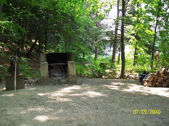 Half Moon State Park: our fireplace/firepit combo!