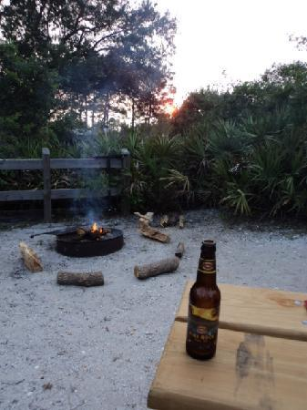 Big Lagoon State Park: Sunset at our campsite