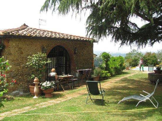 Torre Antica: 'Loggia', garden & pool