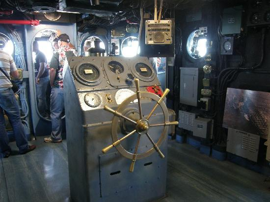 Part Of The Bridge On Uss Midway San Diego Picture Of