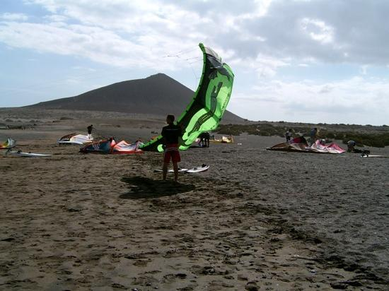 El Medano, Spain: kite surf plage