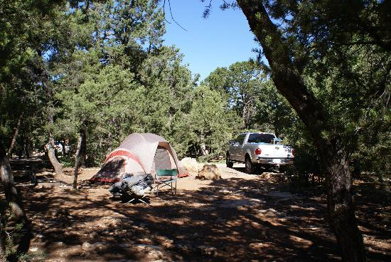 Mather Campground: This is our set up