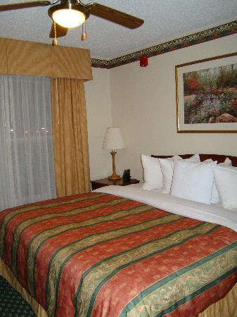 Homewood Suites by Hilton Dallas-Arlington: King bed in the bedroom