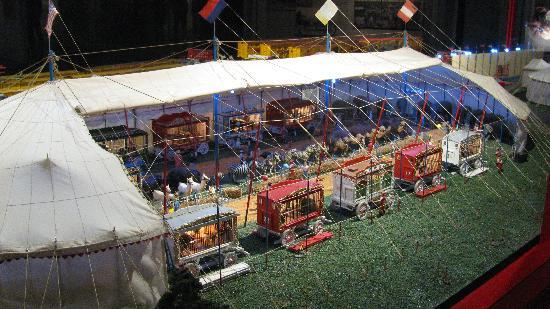 Baraboo, วิสคอนซิน: part of miniature circus model