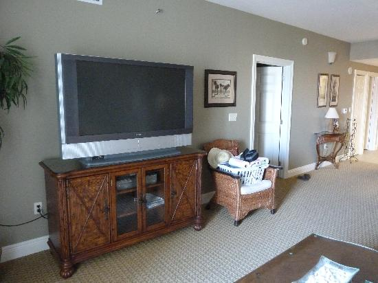 Ariel Dunes at Seascape Resort: Flat screen in living room