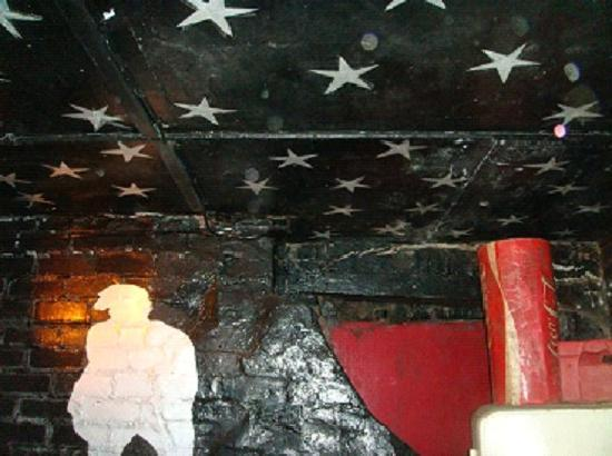Casbah Coffee Club: John Lennon's painted stars on the ceiling at the Casbah